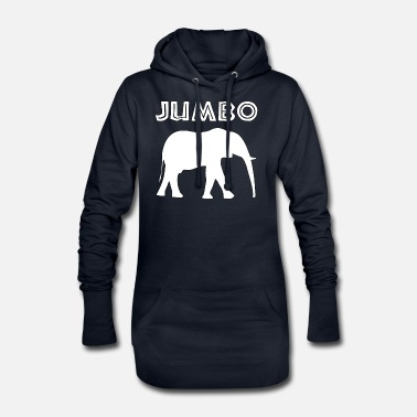 Jumbo jumbo in white - Women's Hoodie Dress