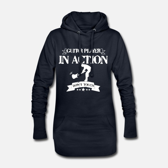 Guitar Player Pullover & Hoodies - GUITAR PLAYER IN ACTION DON'T TOUCH - Frauen Hoodiekleid Navy