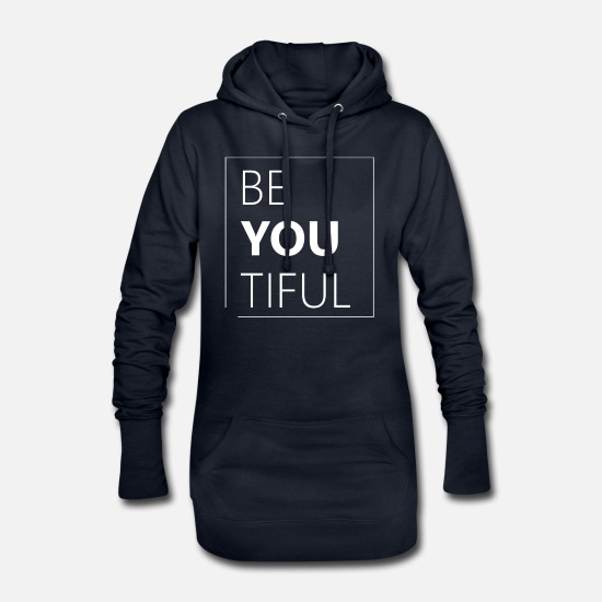 Beautiful Hoodies & Sweatshirts - Beautiful beautiful - Women's Hoodie Dress navy