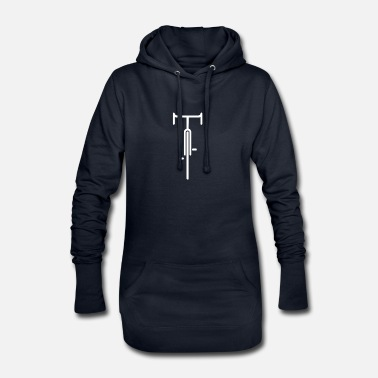 Sleek Cool bike motif. Sleek and without frills. - Women's Hoodie Dress