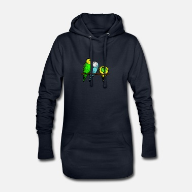Vogel Wellensittiche - Frauen Hoodiekleid