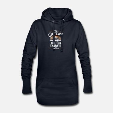 Outlaw Hot Rod Garage   Old timer Oldtimer Premium zip hoodie dam ... 23531488bc05e