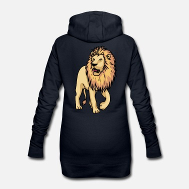 Dessin Fier cool lion Majesty dessin - Robe sweat Femme
