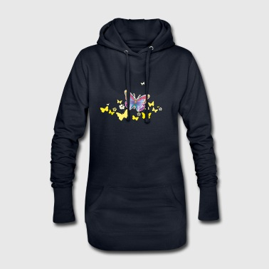 Butterflies moth insects spring summer - Hoodie Dress