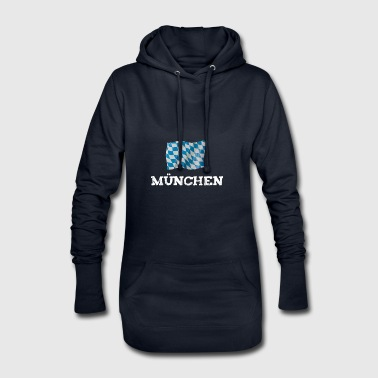 munich munich flag bavaria - Hoodie Dress