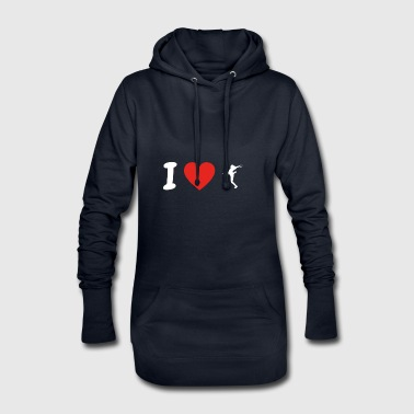 I love love women handball handballer wm em pn - Hoodie Dress