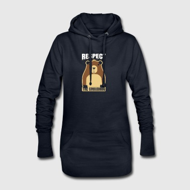 Respect The Groundhog Woodchuck Ground-Hog - Hoodie Dress