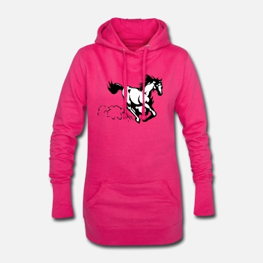 Galop Cheval au galop - Robe sweat Femme