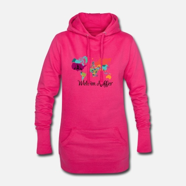Travel World in a suitcase Traveling Life Dreaming - Women's Hoodie Dress