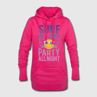 Smiley World Surf all day  - Sweat-shirt à capuche long Femme