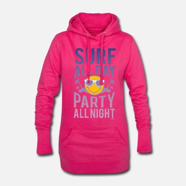 World Smiley World Surf all day  - Women's Hoodie Dress