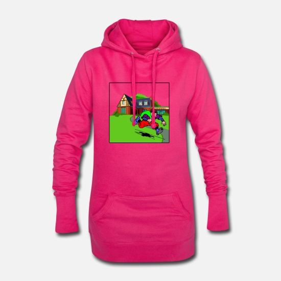 Hustle Sweat-shirts - gangster gangster arme criminelle bul arme armes de poing - Robe sweat Femme fuchsia