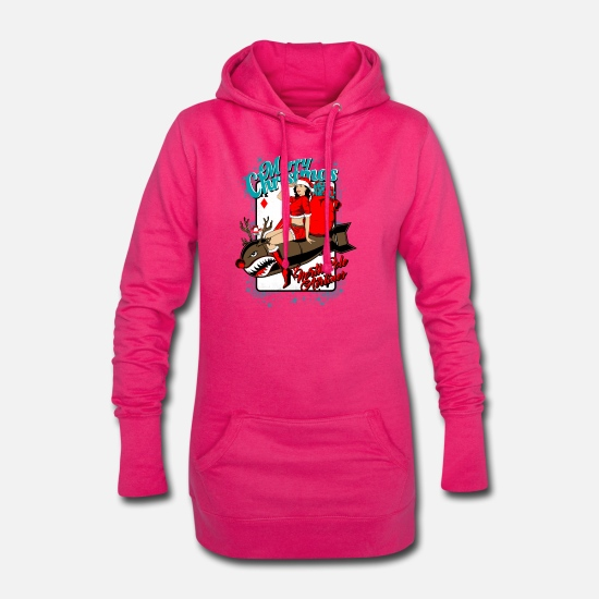 Christmas Carols Hoodies & Sweatshirts - Christmas. North Pole Airlines. - Women's Hoodie Dress fuchsia