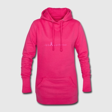 Heartbeat Breast Cancer Awareness Heart Rate - Hoodie Dress