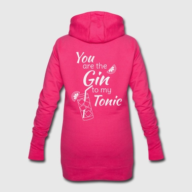 Bar Gin Tonic Spruch You are the gin to my tonic weiss - Hoodie-Kleid