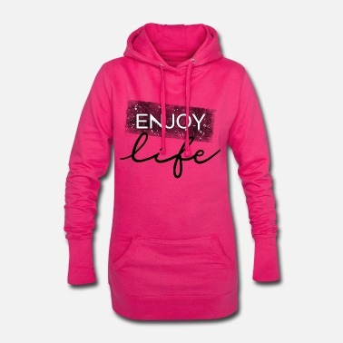Textkunst ENJOY LIFE - Frauen Hoodiekleid
