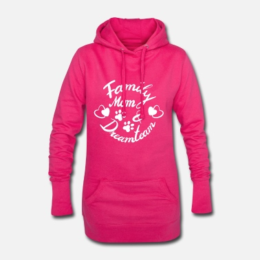 Family Dreamteam - mom & dog - Frauen Hoodiekleid