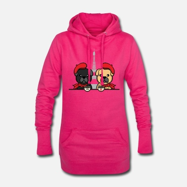 Kaffee Frenchie Bulldog Besties Paris Kaffee Freundin fun - Frauen Hoodiekleid