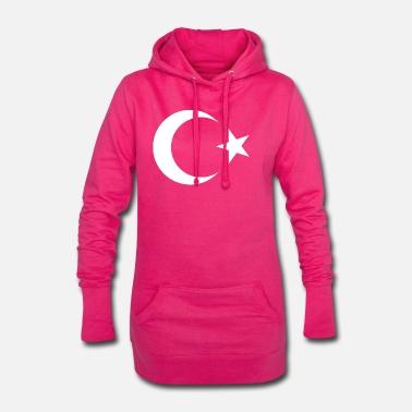 740deeadcab4 Stjerne Tyrkiet Tyrkiet måne stjerne - Hoodie kjole dame