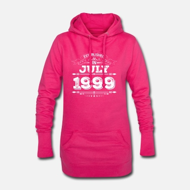 1999 Established in July 1999 - Frauen Hoodiekleid