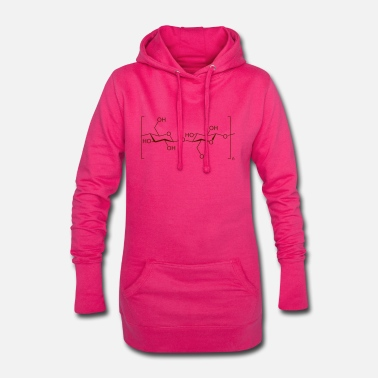 Baumwolle cellulose Cotton Baumwolle - Frauen Hoodiekleid