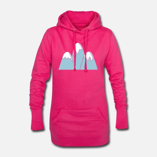 Vecteur Sweat-shirts - montagnes - Robe sweat Femme fuchsia