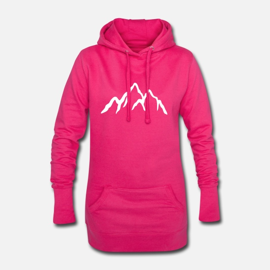 Protection De L'environnement Sweat-shirts - montagne - Robe sweat Femme fuchsia