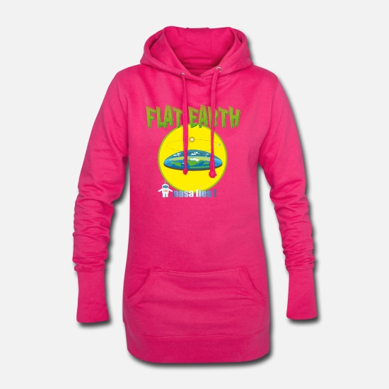 Society Hoodies & Sweatshirts - The Flat Earth Society - Women's Hoodie Dress fuchsia