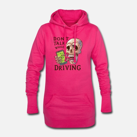 Mobile Phone Hoodies & Sweatshirts - Skull with ringing mobile phone - Women's Hoodie Dress fuchsia