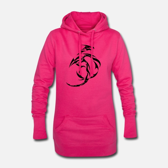 Tribal Pullover & Hoodies - Drache Tribal - Frauen Hoodiekleid Fuchsia