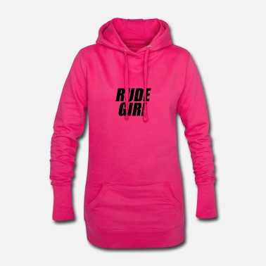 Rude Girl Rude girl black - Women's Hoodie Dress