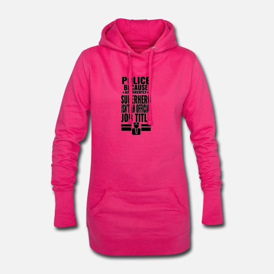 Commissaire De Police Sweat-shirts - Police - super héros - Robe sweat Femme fuchsia