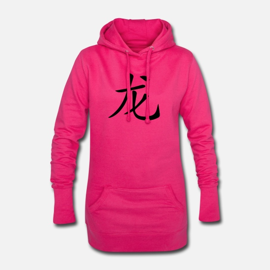 Deltaplane Sweat-shirts - Chine. Lettrage chinois Dragon - Robe sweat Femme fuchsia