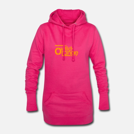 Orange Pullover & Hoodies - wild orange - Frauen Hoodiekleid Fuchsia