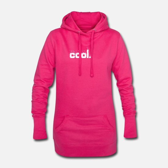 Cool Hoodies & Sweatshirts - Cool - Women's Hoodie Dress fuchsia