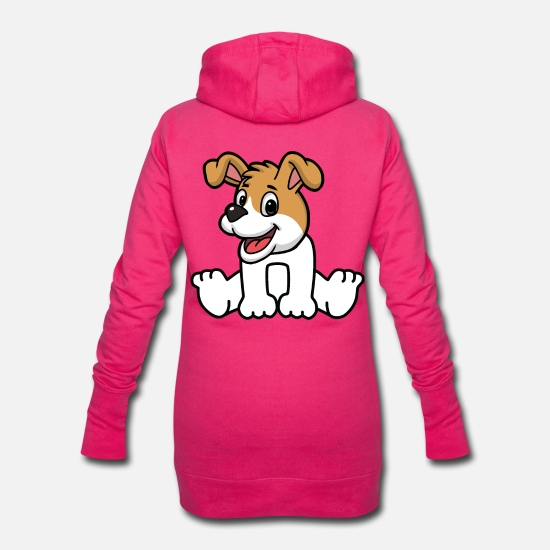 Pet Hoodies & Sweatshirts - Dog Dogs Pets Bello Watchdog Kids Baby - Women's Hoodie Dress fuchsia