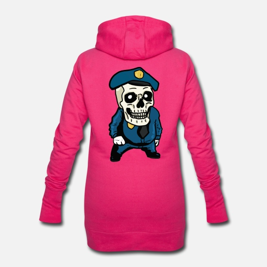 Crâne Sweat-shirts - Zombie Horror Policier Police Halloween Crâne - Robe sweat Femme fuchsia
