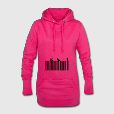 Baby Strichcode SCAN TO SEE WHAT´S INSIDE - Hoodie-Kleid