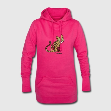 Cat - Bengal - Hoodie Dress