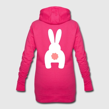 Easter bunny rabbit from behind A - Hoodie Dress