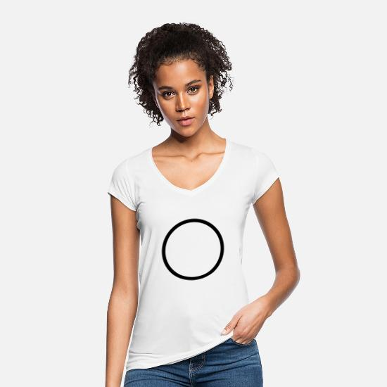Shape T-Shirts - circle - Women's Vintage T-Shirt white
