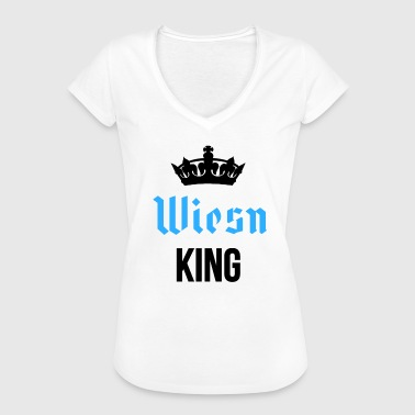 Wiesn King mit Krone in schwarz - Frauen Vintage T-Shirt