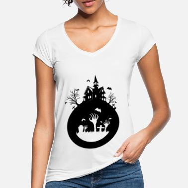 Haunted House haunted house - Women's Vintage T-Shirt