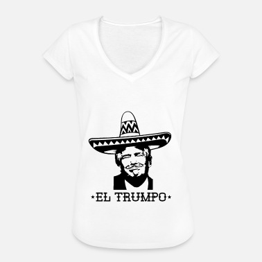 Anti Republicano Anti Trump Mexico Sombrero Mustache USA Regalo - Camiseta vintage mujer