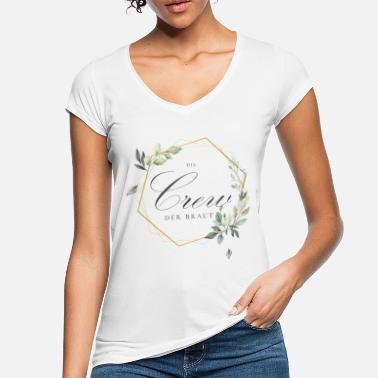 The Bride's Crew - Team Bride - Bride Squad - Vrouwen vintage T-Shirt