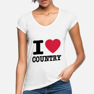 Country i love country / i heart country - Vintage T-shirt dame