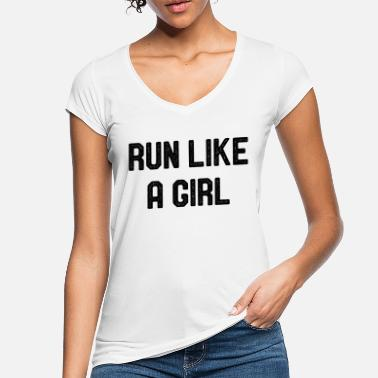 Run Like A Girl Run Like A Girl Running Jogging Race Marathon - Women's Vintage T-Shirt