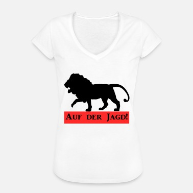 Lion Hunting On the hunting lion - Women's Vintage T-Shirt