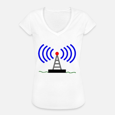 Radio Tower Radio radio tower waves communication - Women's Vintage T-Shirt