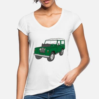 Land Rover Defender Landy Land Rover Defender Series Jeep - Women's Vintage T-Shirt